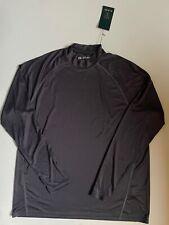 Nwt G-Mac Apparel Long Sleeve Exercise Shirt Mock Turtle Neck Grey Xl