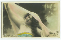 c 1903 Long Hair Haired Beauty PRETTY LADY Reutlinger glamour photo postcard