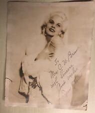 Vintage Glamor Pose Jean Harlow Autograph