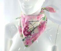 "Dolce&Gabbana foulard flowers cotton new with hologram ORIGINAL D&G 19"" x 19"""
