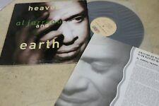 "AL JARREAU HEAVEN AND EARTH 1993 KOREA VINYL LP 12"" w/INSERT 10TRACK WEA"