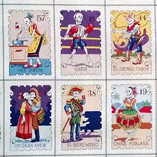 BY YARD-Cartas Marcadas Color Day of Dead Fabric Alexander Henry 7666A Bright
