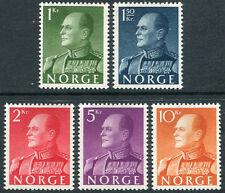 NORWAY # 370 - 374 VF Light Hinged Set - KING OLAV V - S1455