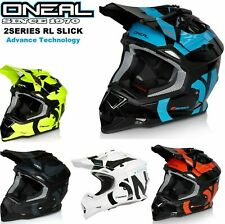 Oneal 2 series Rl Slick Motocross Casco Adulto Carreras DIRT BIKE ACU ECE 2020