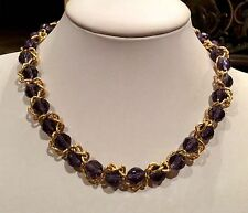 """""""NOLAN MILLER GLAMOUR COLLECTION"""" INVENTIVE BEAD & CHAIN NECKLACE RARE!!"""