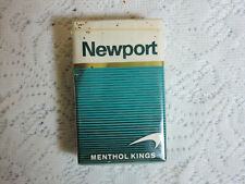 Vintage Newport Menthol Kings Cigarette Pack EMPTY Display Only