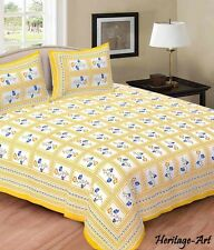 Rajasthani Handmade King Size 100% Pure Cotton Bed Sheet With Two Pillow Covers