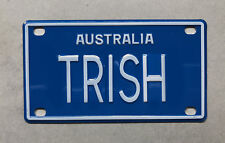 TRISH Novelty Mini Number Plate