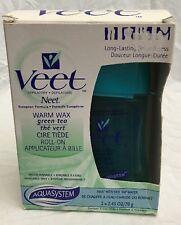 New Veet Neet Warm Wax Roll On with Refill Green Tea Hair Removal Depilatory