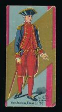 1890's N224 Kinney Bros. MILITARY SERIES -Ser D -Vice Admiral (France 1786)