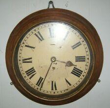 "Ships clock. English no makers name. 17"" diameter. Platform escapement 8 day."