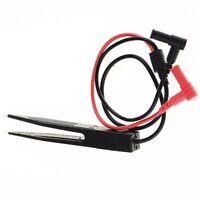 Chip Test Clip Meter Lead Probe Multimeter Tweezer Capacitor Resistance New