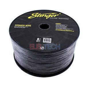 Stinger SSVLS122B 12Ga Black Speaker Wire 250ft