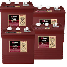 4x ORIGINAL TROJAN Batterie 6V Blockbatterie Trojan T105 Stapler Hebebühne