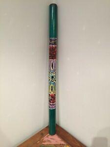 Hand Painted Didgeridoo Bamboo Bright Aboriginal Woodwind Kids Adult Travel Kit