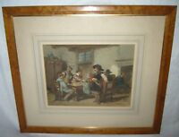 ANTIQUE HERMAN FRED CAREL TEN KATE 1822-1891 WATERCOLOR PAINTING W/ PROVENANCE