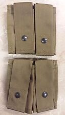 2 NEW 40mm Double Pouch High Tan Grenade Pocket Coyote USGI MOLLE II M203 MAG