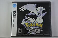 POKEMON BLACK (Nintendo DS) Case + Game - Authentic