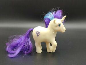 My Little Pony Vintage G1 Glory White Unicorn Original 1983 MLP Purple Blue Hair