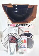 Vintage 1990s Weber Smokey Joe Grill 10001 Jet Black Nos Unused In Original Box