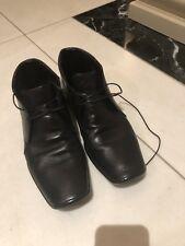Genuine Prada Black Leather Men's Dress Boot US size 8.5 /Australian 8/ Euro 42