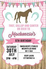 Personalised Horse Riding Pony Birthday Party Invites inc Envelopes H6
