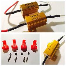2x 25W 6Ohm Fix Blinking Error LED Light Bulbs Load Resistor Brake Signal Lamps