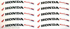 Honda CBR Fireblade Wheel Rim Logo Sticker Decal x 10 Red flag / Black text HRC