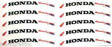 Honda CBR Fireblade RUEDA LLANTA Logo Pegatina Calcomanía X 10 Bandera Roja/texto negro HRC