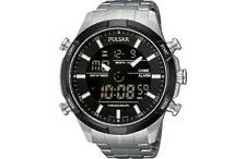 Pulsar  WRC Chronograph Black Dial Stainless Steel Bracelet Mens Watch PW6003X1