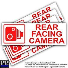 5 X Pegatinas de cámara trasera que enfrentan-coche, taxi externo, van, signos de CCTV-Go Pro, tinted