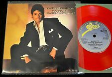 UK RED VINYL PICTURE SLEEVE Michael Jackson Epic 1/8 Rock With You