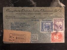 1948 Asuncion Paraguay Commercial Airmail Cover To Baltimore MD USA