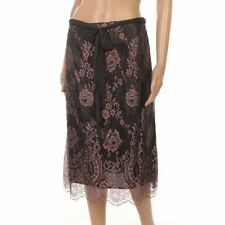 Knee Length Rayon A-line Floral Skirts for Women