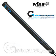 Winn 15 Inch Long Pistol Counterbalance Putter Grip - Black / Blue + Free Tape