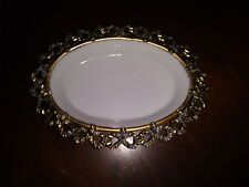 Ornate Soap Dish in White with Gold Made in Japan Item #291/70