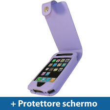 Viola Eco Pelle Custodia per Apple iPhone 3G 3GS 16gb 32gb Case Cover
