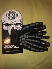Exalt Death Grip Gloves Full Finger Grey - Medium Paintball Speedball Woodsball