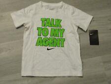 Nike Boys Ask My Agent Swoosh Graphic Cotton Shirt Black//Blue New 929688-010