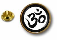 pins pin badge pin's metal button om ohm yoga bouddhiste buddha