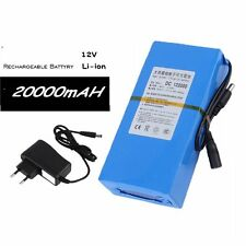 DC 12V 20000mAh DC 122000 Rechargeable Portable Li-ion Battery for CCTV Camera