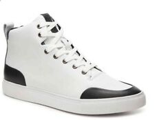 ca5011e76 NEW Mens 9 Sam Edelman Geo Hi High Top Sneaker White Black Leather Shoes   150