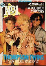 Thompson Twins on Magazine Cover 8 December 1984     Roddy Frame     Tony Hadley