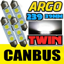 4X 4pc Led de Alto Voltaje 6W 239 272 C5W sin Error Matrícula Regulador