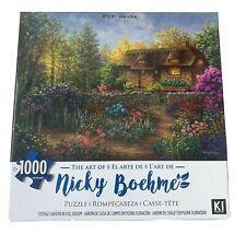 "Nicky Boehme Art Jigsaw Puzzle 1000 Piece Cottege Garden In Full Bloom 27"" X 20"""