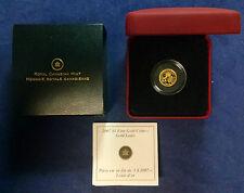 CANADA 2007 LOUIS  $1 DOLLAR FINE GOLD 99.99% 1/20TH OZ PROOF COIN