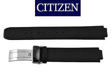 Citizen Eco Drive Original Black Leather Watch Band lady's 10mm FB1204-09E woman