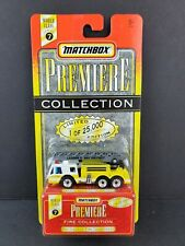 Matchbox Premiere Fire Collection Bay District Fire Department Yellow Car NEW