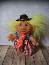 """Sweet Dam Totally Troll - 5"""" - Cute Clown Outfit, Yellow Hair"""