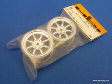 (HPI 3932) 1:10 Mini Cup Racer Switch MX60 8-Spoke Wheel Chrome 0mm Offset